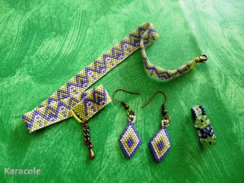 Parure Brigitte perles, tissage  Mode, bijoux, accessoires