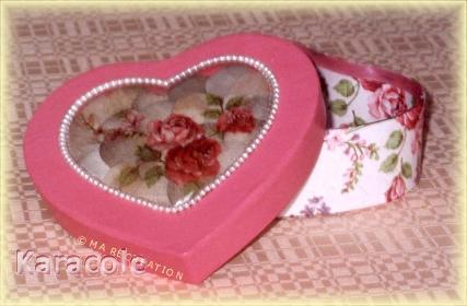 Boîte romantique Lina cartonnage, serviettage boite, secrets, bijou, déco, romantique Cartonnage, papeterie, scrapbooking