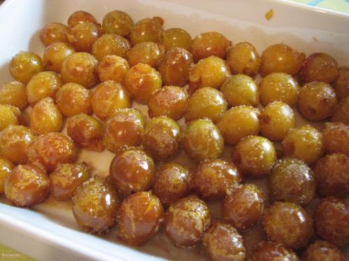 Mirabelles cuites au four mirabelles, beurre-salé  Récréation culinaire