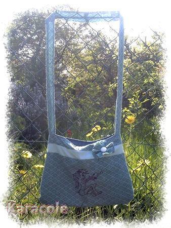 Sac diabolotin couture, broderie, point-de-tige  Couture & Art du fil