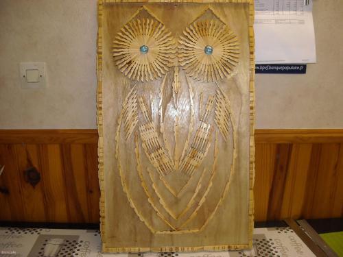Tableau la chouette pinces-à-linge  Home déco, modelage, bois, cadres, fleurs