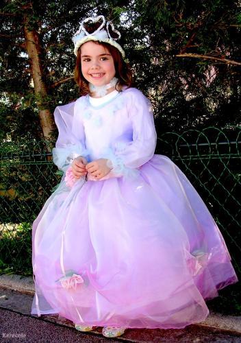 Robe de princesse coeur couture déguisement, costume, princesse Couture & Art du fil