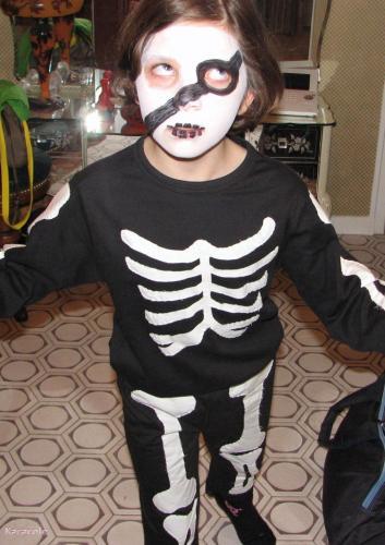 d guisement de squelette costume enfants halloween f te horreur couture customisation. Black Bedroom Furniture Sets. Home Design Ideas