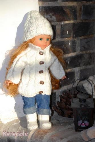 Habit de poupée - Week-end à la montagne tricot, laine habit, poupée, kit Couture & Art du fil