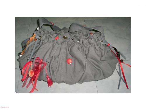Sac kaki et orange personnalisation, customisation sac-à-main Mode, bijoux, accessoires