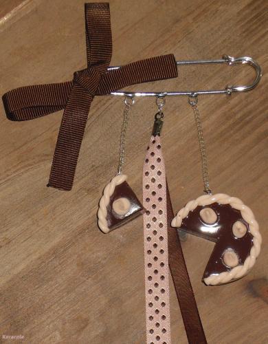 Broche gourmande bijou gourmandise p te polym re fimo jewelry fashion - Pate fimo gourmandise ...