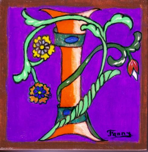 Lettrine I » enluminure, belles-lettres peinture ...