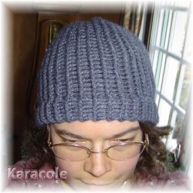 Bonnet bleu tricotiné tricotin, laine bonnet, hiver Couture & Art du fil