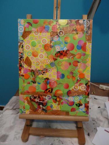 Bouchons psyché décopatch, vernis-colle, vernis-acrylique tableau Cardboard, Paper, Scrapbooking