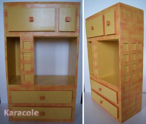 meuble de t l phone en carton meuble rangement carton cartonnage papeterie scrapbooking. Black Bedroom Furniture Sets. Home Design Ideas