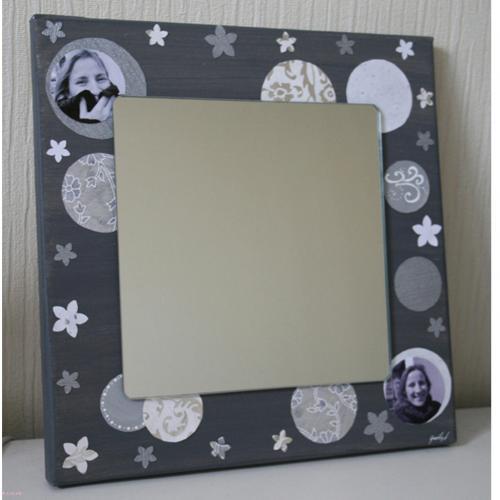 toile et miroir d co scrapbooking toile coton miroir. Black Bedroom Furniture Sets. Home Design Ideas