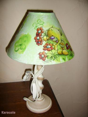 Autre lampe abat-jour, serviettage, peinture  Home déco, modelage, bois, cadres, fleurs