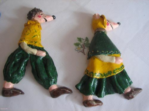 Souris pâte-à-sel  Home déco, modelage, bois, cadres, fleurs