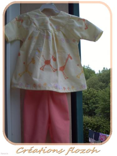 ensemble pour b b taille 3 mois b b garde robe pantalon couture couture art du fil. Black Bedroom Furniture Sets. Home Design Ideas