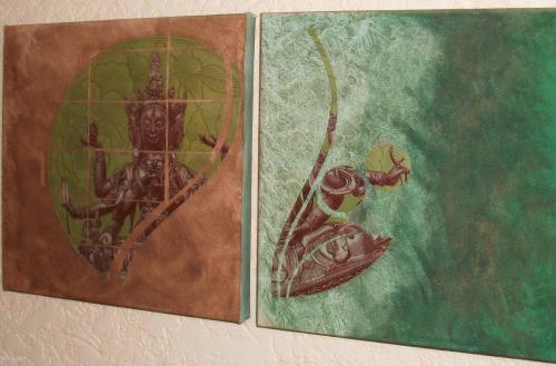 Toile Shiva stickers, toile, peinture, collage, découpage  Home déco, modelage, bois, cadres, fleurs