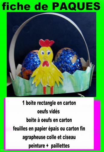 Décoration de Pâques paier, carton-fin, boîte-à-oeuf  Cartonnage, papeterie, scrapbooking