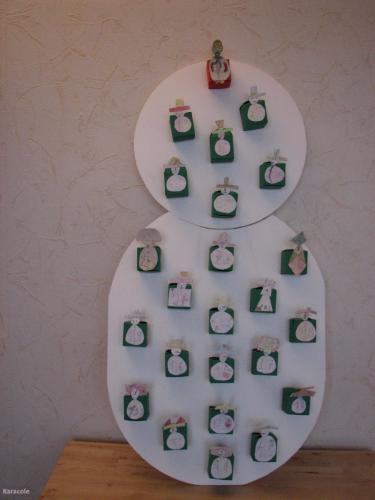 Calendrier de l avent bonhomme de neige calendrier no l - Calendrier de l avent en bonhomme de neige ...