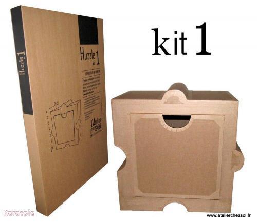 Kit de meuble en carton Huzzle carton-ondulé meuble, kit Cartonnage, papeterie, scrapbooking