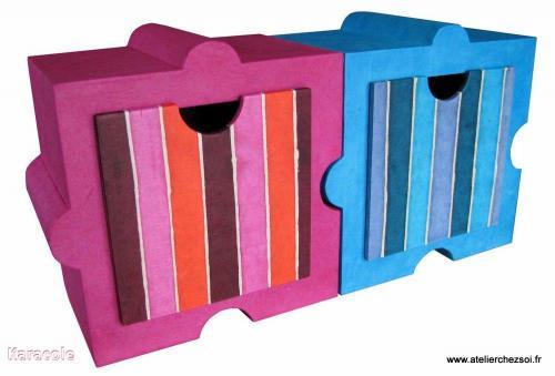 Meuble en carton Huzzle carton-ondulé  Cartonnage, papeterie, scrapbooking