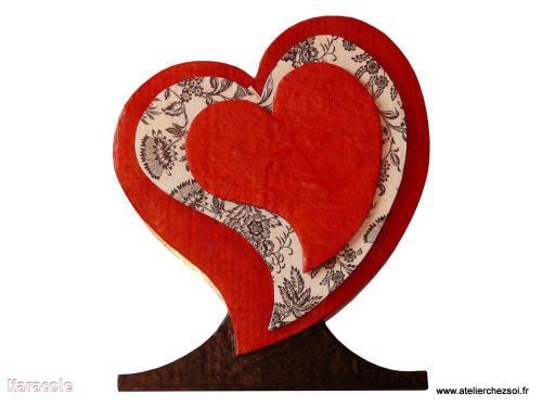 Urne coeur en carton carton, cartonnage urne Cartonnage, papeterie, scrapbooking