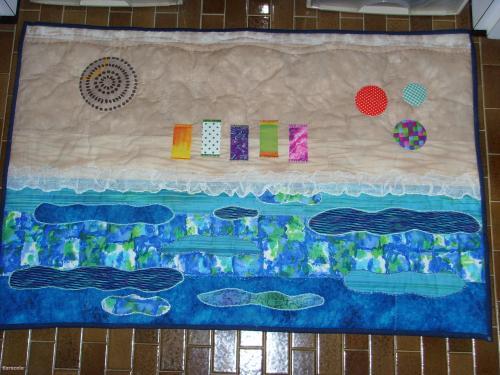 tapis de bain bord de mer tapis de bain tissu patchwork appliqu broderie couture art. Black Bedroom Furniture Sets. Home Design Ideas