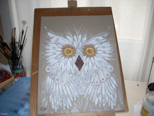 Un chouette tableau toile, peinture-acrylique  Home déco, modelage, bois, cadres, fleurs