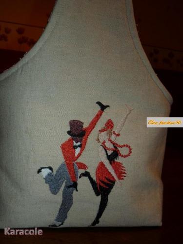 Pochon à nouer vintage broderie  Couture & Art du fil