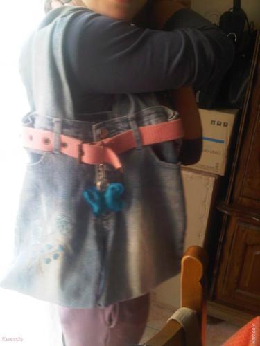 Seconde vie d'un jean de petite fille couture, récupération enfant Mode, bijoux, accessoires