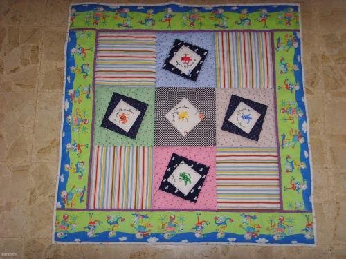 Tapis de parc Jérémy patchwork tapis, bébé, jeu Couture & Art du fil