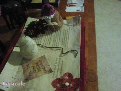 Christmas book feutrine, led  Home déco, modelage, bois, cadres, fleurs