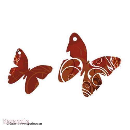 Tag scrapbooking motif papillon papier, scrapbooking papillon Cartonnage, papeterie, scrapbooking