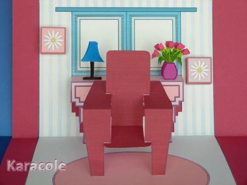 Carte fauteuil carterie  Cartonnage, papeterie, scrapbooking