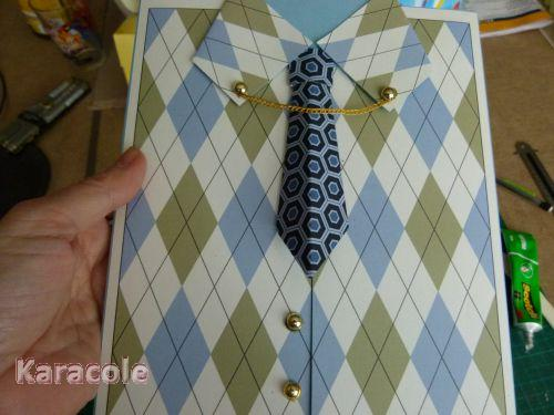 Carte POP-UP - Carte chemise pour Dave papier carte, pop-up, chemise Cartonnage, papeterie, scrapbooking