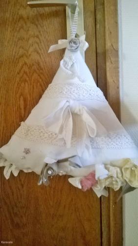Sapin déco romantique couture  Couture & Art du fil