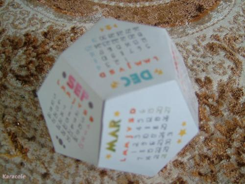 Calendrier polygonal cartonnage, scrap  Cartonnage, papeterie, scrapbooking