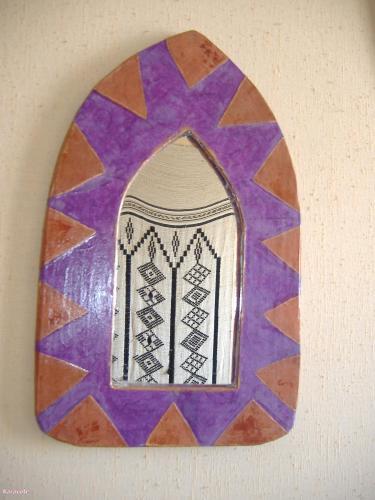 Miroir d'inspiration africaine carton papier-népalais lokta miroir africain Cartonnage, papeterie, scrapbooking