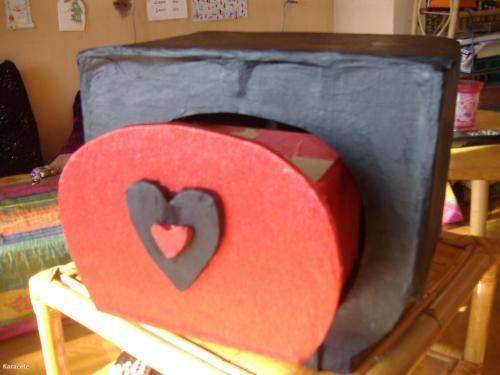 Boîte tiroir carton papier-crépon peinture boîte tiroir rangement Cartonnage, papeterie, scrapbooking
