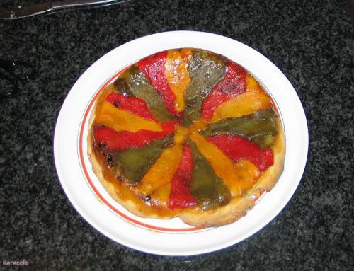 Tarte aux trois poivrons poivrons  Récréation culinaire