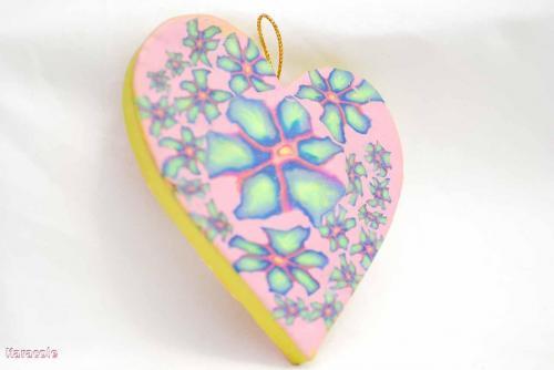 Mobile coeur carton modelage Cernit pâte-polymère acrylique suspension déco Mode, bijoux, accessoires
