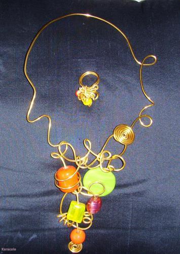 Collier tutti frutti perles métal  Mode, bijoux, accessoires