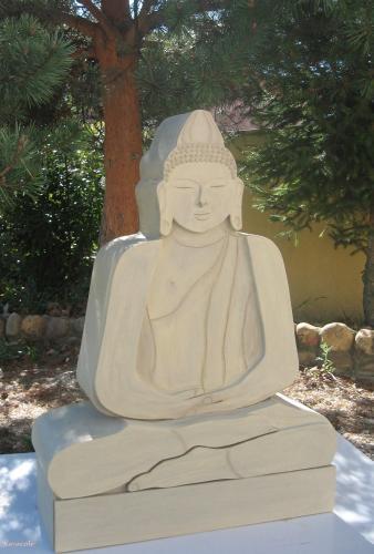 Bouddha en carton cartonnage meuble bouddha sculpture ethnique Cartonnage, papeterie, scrapbooking
