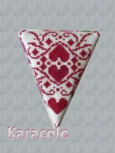 Ciseaux rouges broderie, point-de-croix, grille-gratuite, aïda étui, rangement, couture Couture & Art du fil