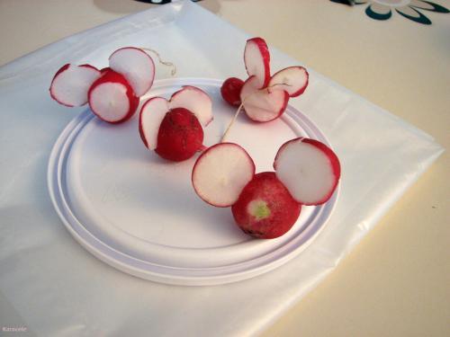Mes radis souris découpe  Récréation culinaire