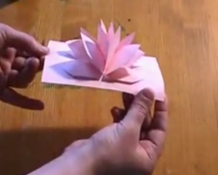 Une fleur à effet pop-up par simple découpage